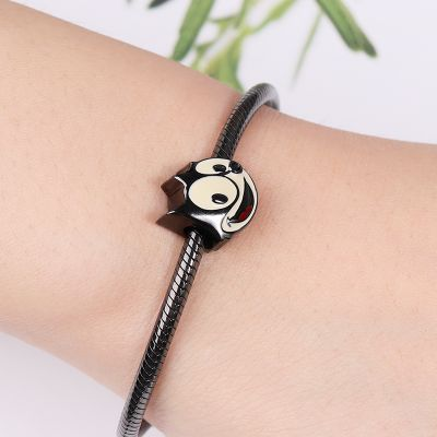 Black Smile Cat Charm