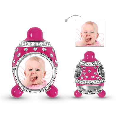Baby Hat Photo Charm