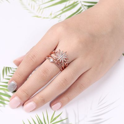 Star Moon Stackable Ring