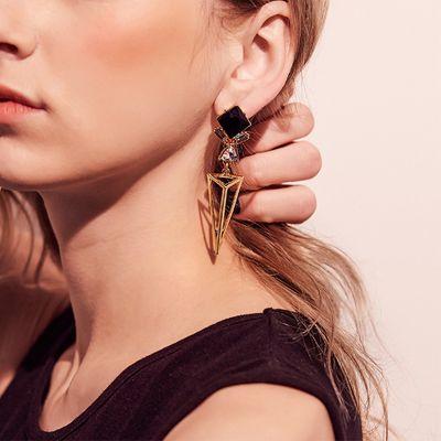 Geometric Triangle Dangle Earrings