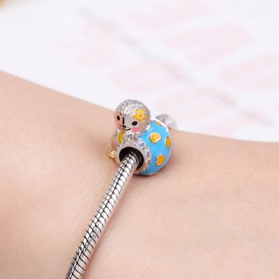 Sloths with Yellow Flower Charm