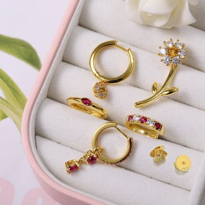 Natural Daisy Cuff Earrings Set
