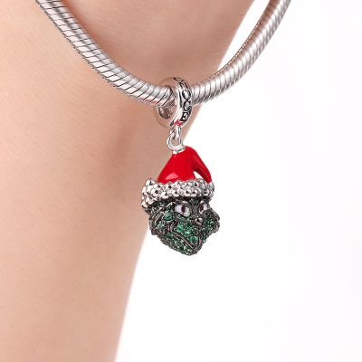 Monster Under Christmas Hat Charm