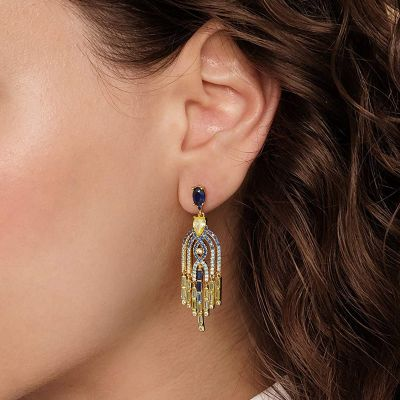 Egyptian Style Dangled Earrings