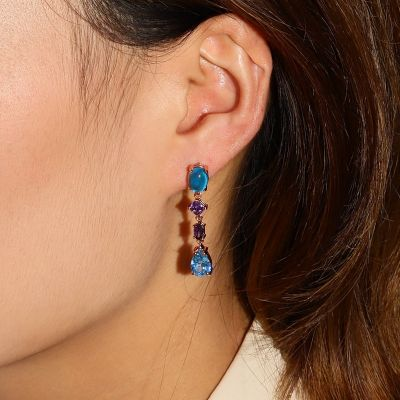 Sea Blue Dangle Earrings
