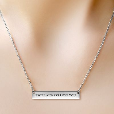 Classic Silver Bar Necklace