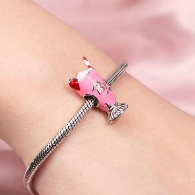 Strawberry Milkshake Charm