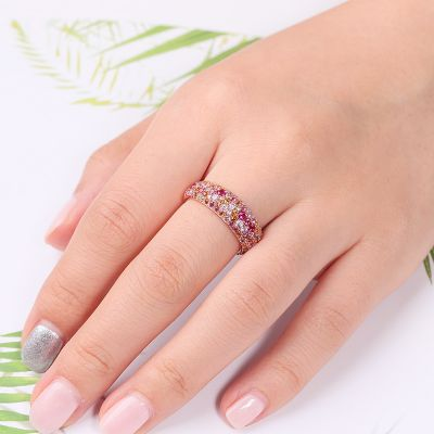 Pink Created Sapphire Band