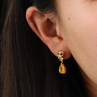 Skull Diamond Earrings