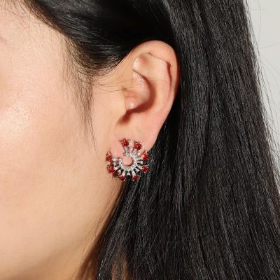 Round Cut Circle Earrings