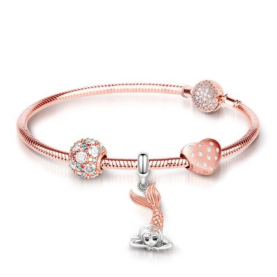 Rose Gold Mermaid Bracelet