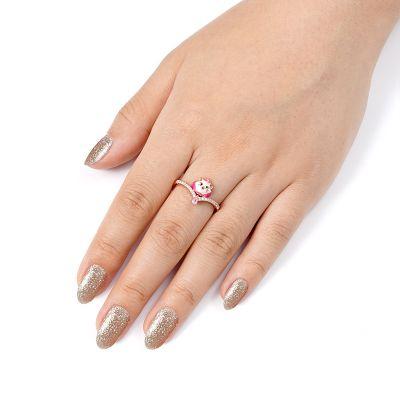 Charming Kitten V Ring