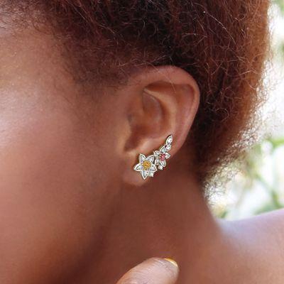 Elegant Flowers Climbers Earrings