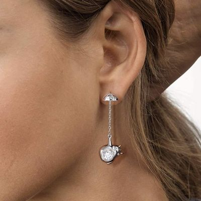 Chinchilla Dangle Earrings