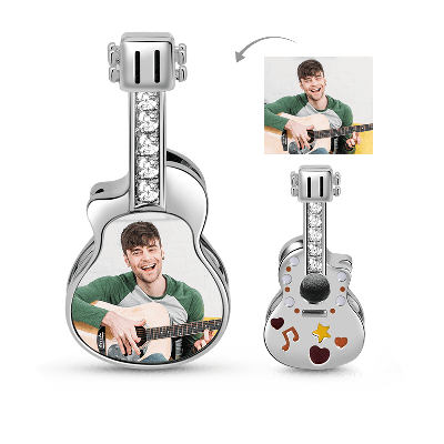 Guitar Photo Charm
