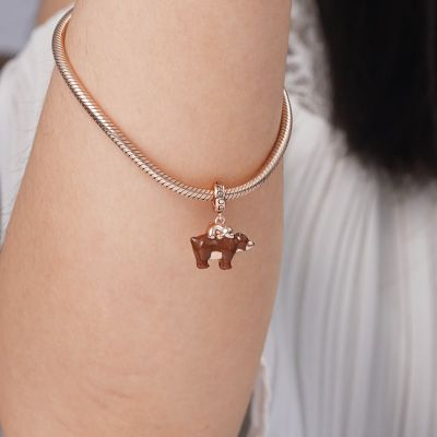 Mother Bear Carries Baby Pendant