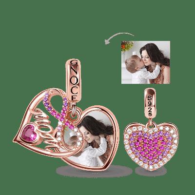 Mom's Love Photo Charm