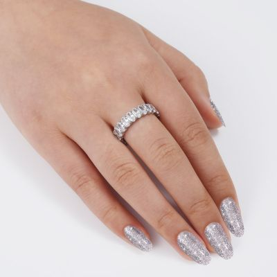 Oval CZ Stone Ring