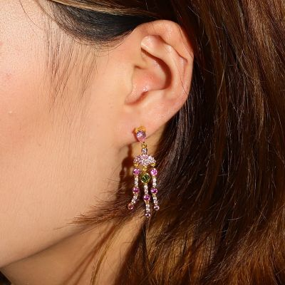 Pink Jellyfish Dangle Earrings