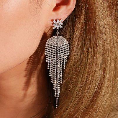 Fan Tassel Dangle Earrings