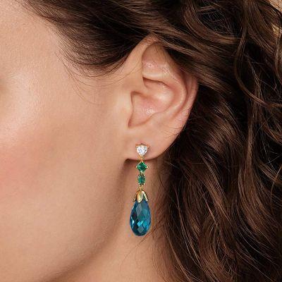 Azure Blue Drop Earrings