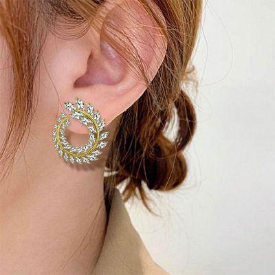 Leaf Wrap Stud Earrings
