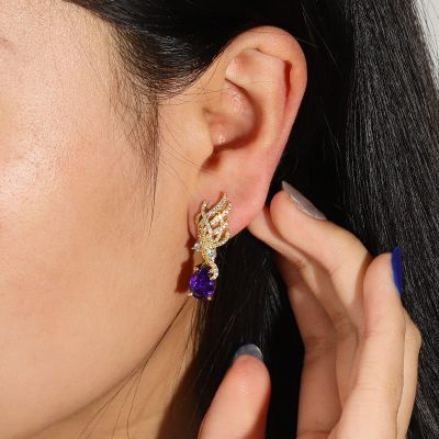 Tail Feather Drop Earrings