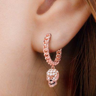 Cystal Skull Earring