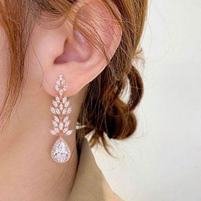 Red Maple Leaf Dangle Earrings