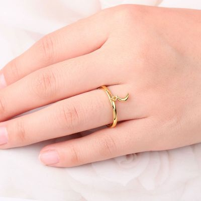 Crescent Moon Open Ring