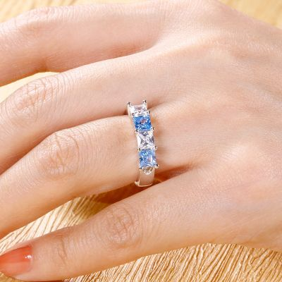 Engraved Ring Princess Cut