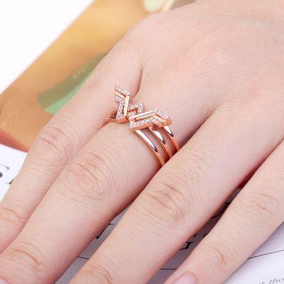 Wing Ring Rose Gold