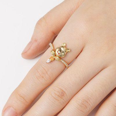 Cute Bear V Ring