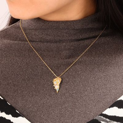 Multicolour Wings Necklace
