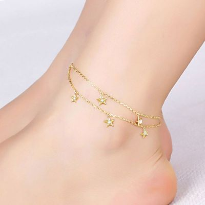 Star Double Chain Anklet