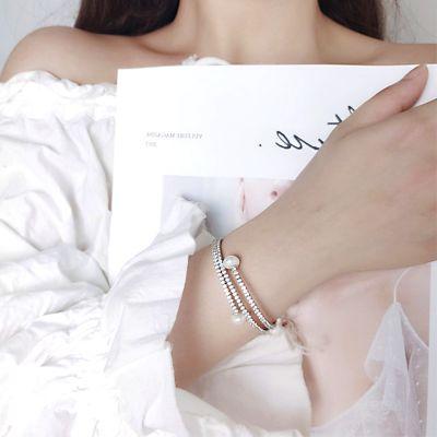 Pearl Stretch Tennis Bracelet