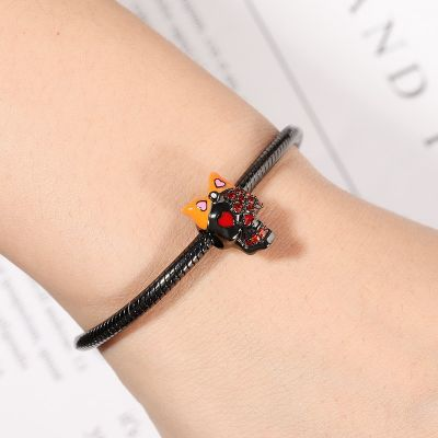Skull with Bowknot Charm