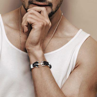 Black Anchor Bracelet