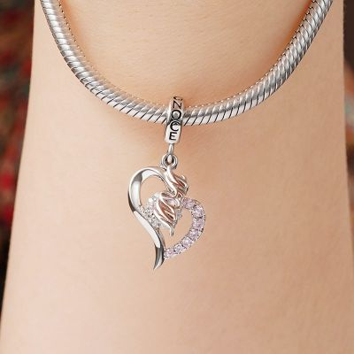 Mom Heart-shaped Pendant