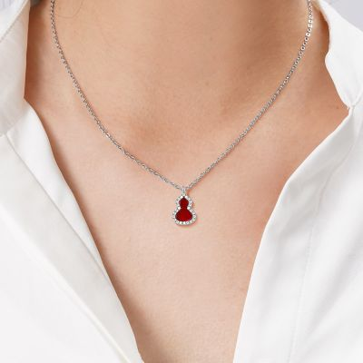 Red Agate Gourd Necklace