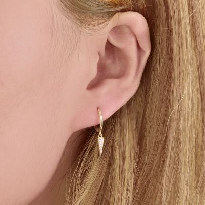 Mini Hoop Spike Earrings