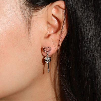 Skull Heart Earrings