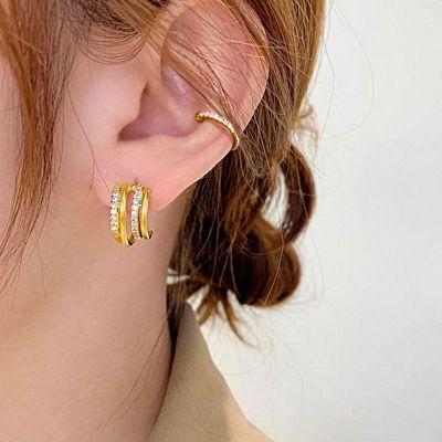Hoop Ear Cuff 18k Gold Plated 925 Sterling Silver