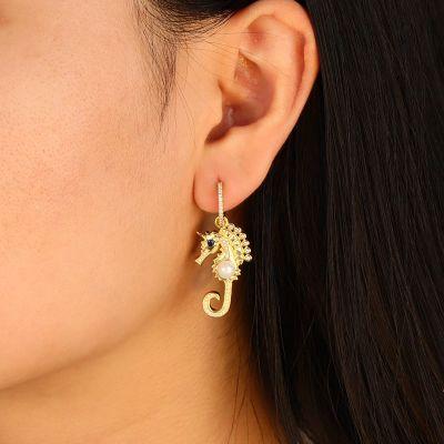 Hippocampus Asymmetric Earrings