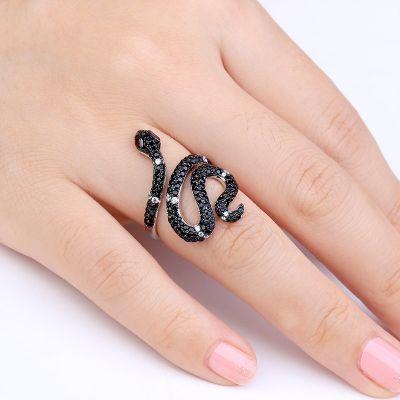 Black Snake Ring