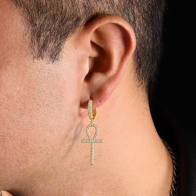 Ankh Men's Earring