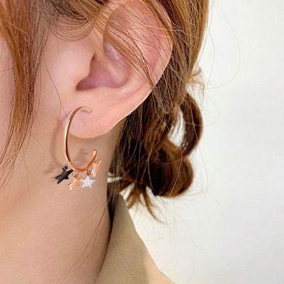 Star Tassel Hoop Earrings