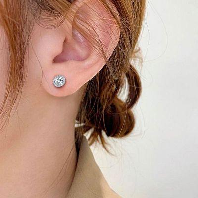Egg-Shaped Stud Earrings