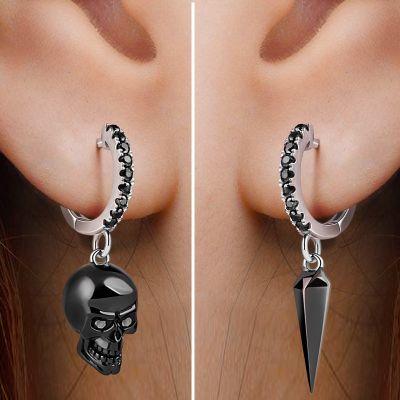 Skull & Awl Earring