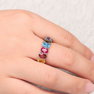 Rainbow Oval Cut Band